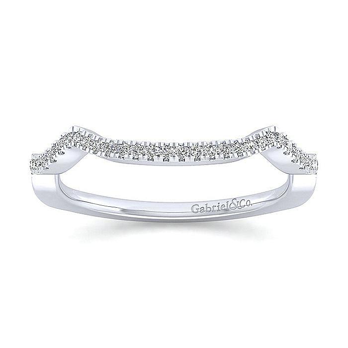 14K White Gold Diamond Matching Wedding Band