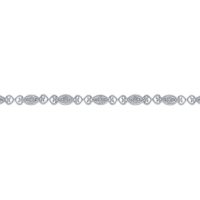 14K White Gold Fashion Bracelet