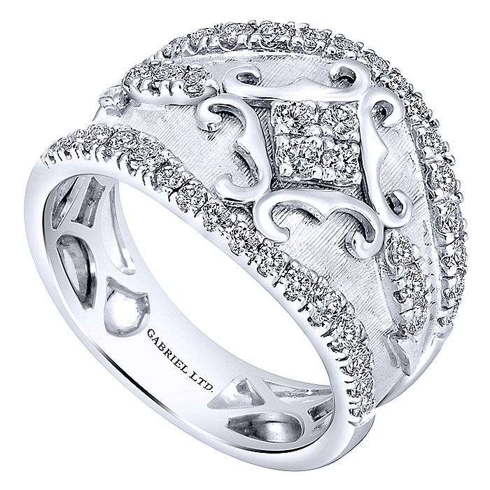 14K White Gold Fashion Ladies Ring