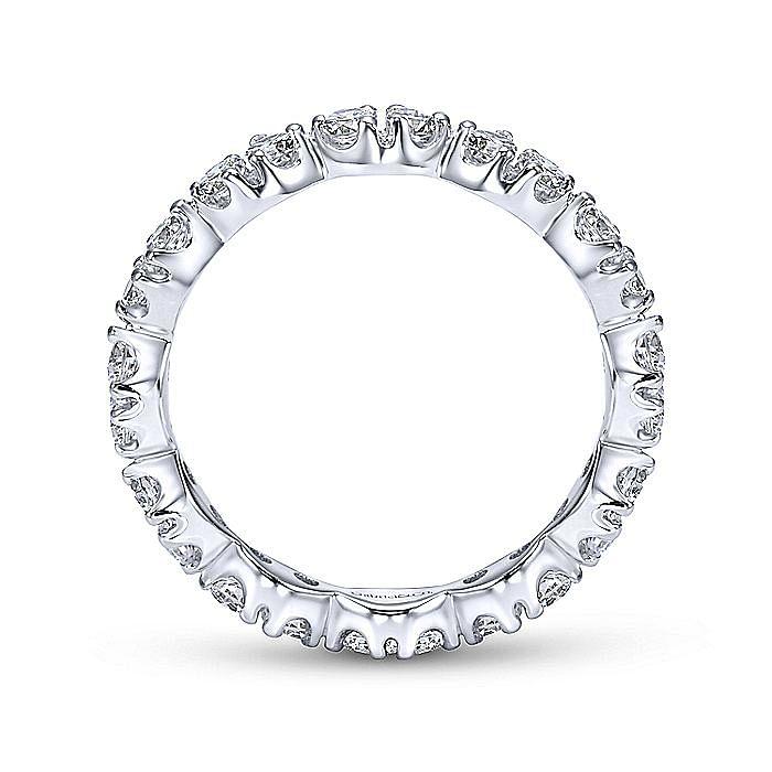 14K White Gold Marquis Shape Station Diamond Eternity Band