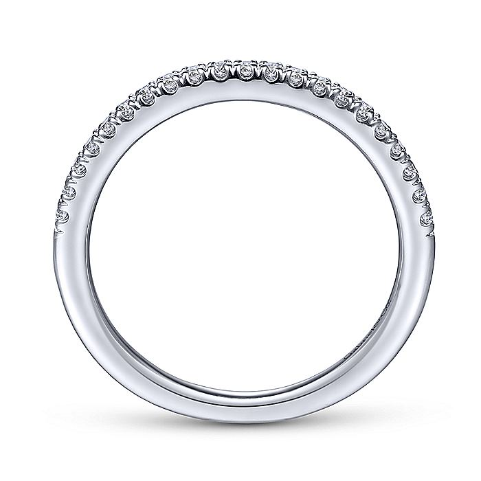14K White Gold Matching Wedding Band