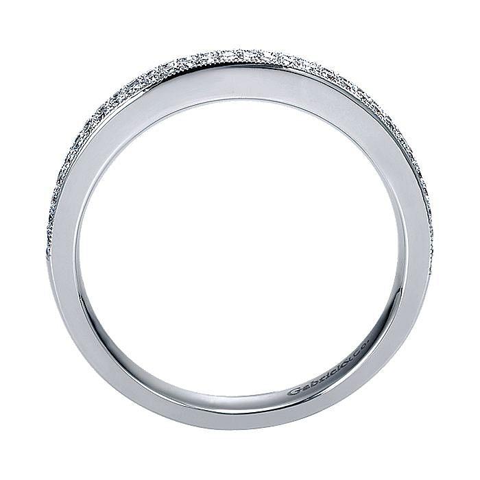 14K White Gold Micro Pavé Diamond Wedding Band