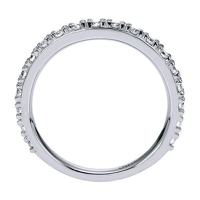 14K White Gold Prong Set Diamond Anniversary Band