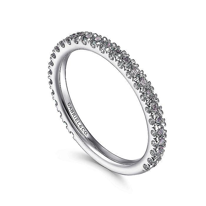 14K White Gold S.Alexandrite Fashion Ring