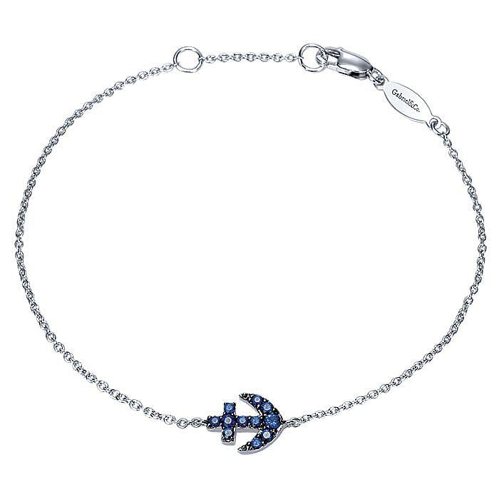 14K White Gold Sapphire Bracelet