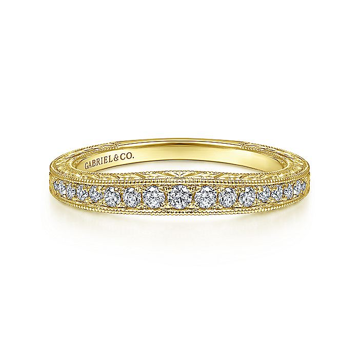 14K Y.Gold Diamond W.Band