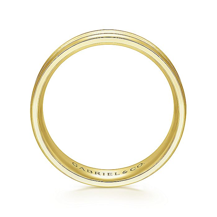 14K Yellow Gold 6mm Men's Wedding Band