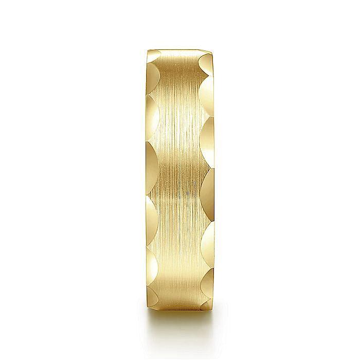 14K Yellow Gold 6mm Men's Wedding Band