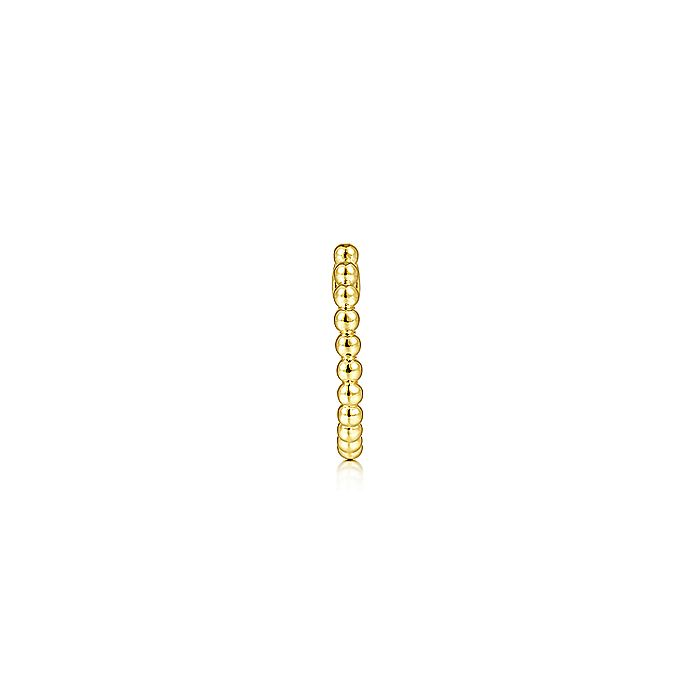 14K Yellow Gold Bujukan Single Huggie Earring