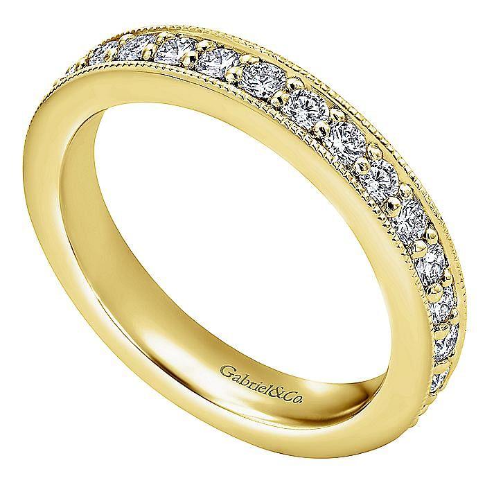 14K Yellow Gold Channel Prong Set Diamond Eternity Band