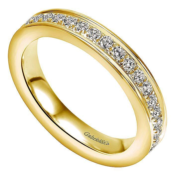 14K Yellow Gold Channel Set Diamond Eternity Band