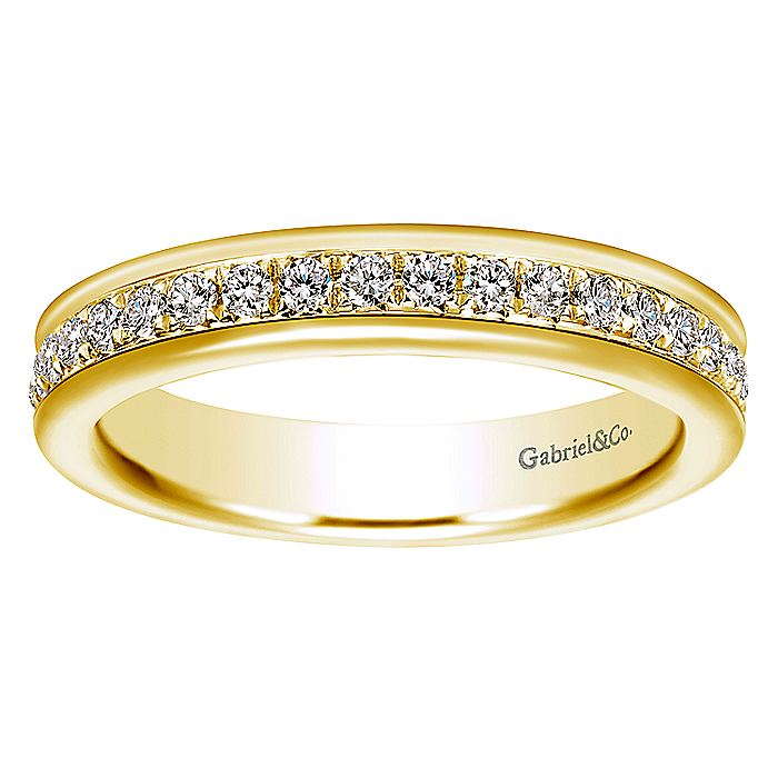 14K Yellow Gold Channel Set Diamond Eternity Band