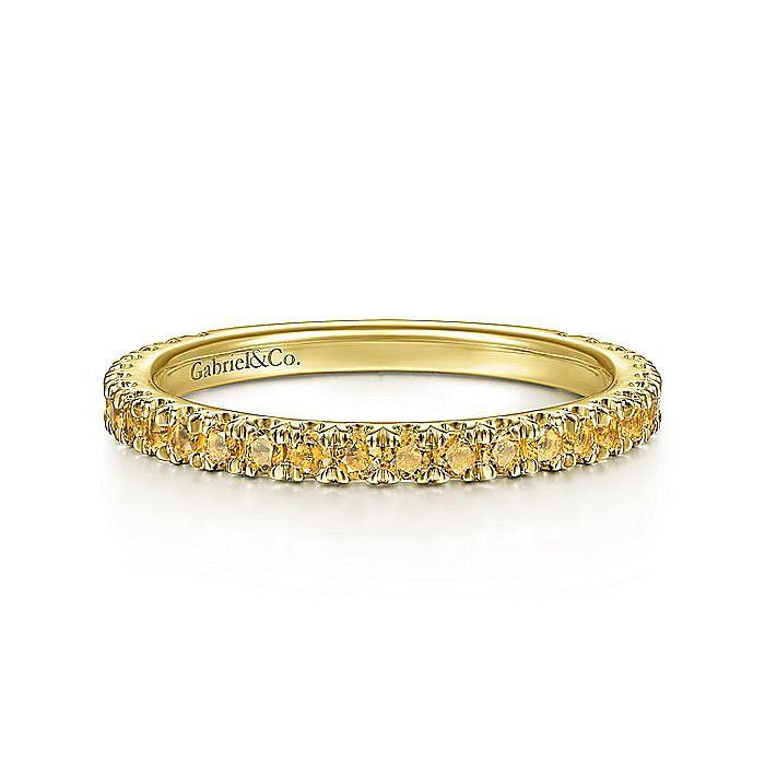 14K Yellow Gold Citrine Band