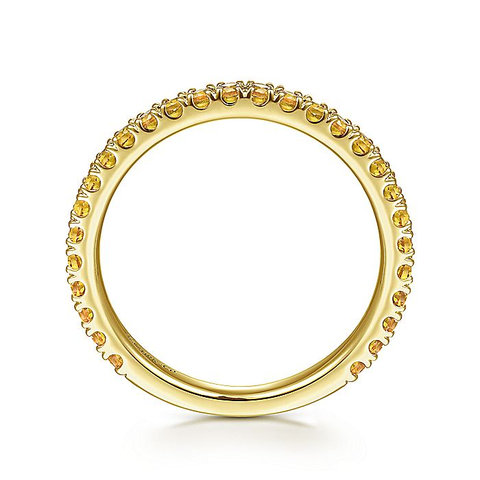 14K Yellow Gold Citrine Stacklable Ring
