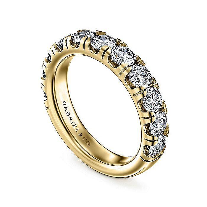 14K Yellow Gold Diamond Anniversary Band