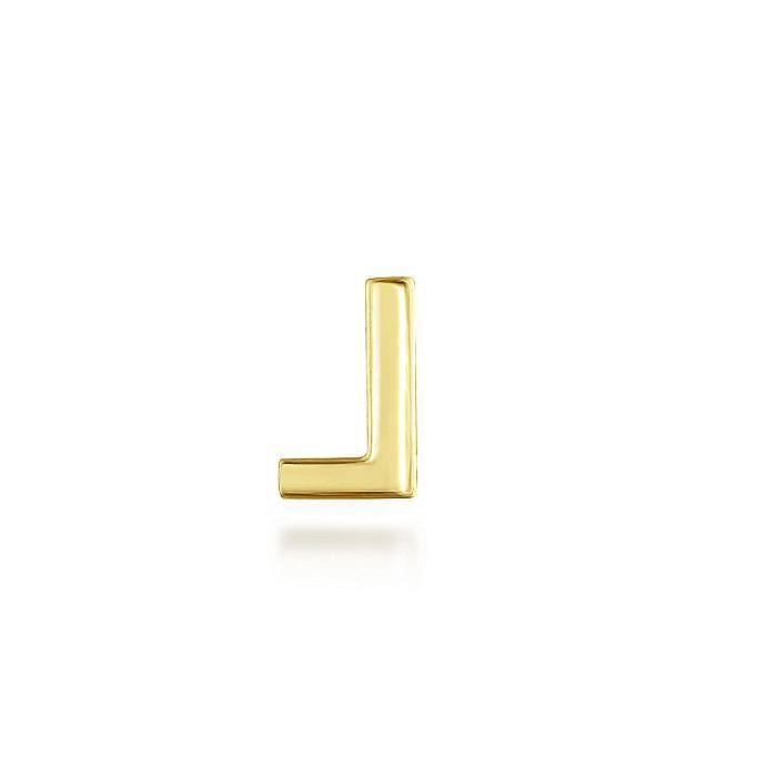 14K Yellow Gold Diamond L Pendant