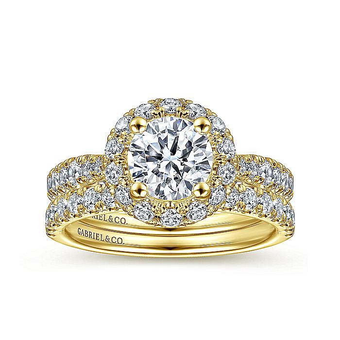 14K Yellow Gold Diamond Matching Wedding Band
