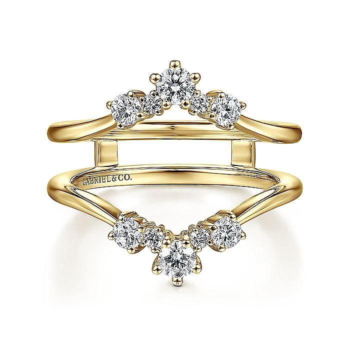 14K Yellow Gold Diamond Ring Enhancer