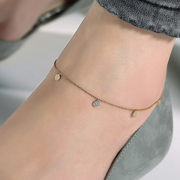 14K Yellow Gold Fashion Ankle Bracelets