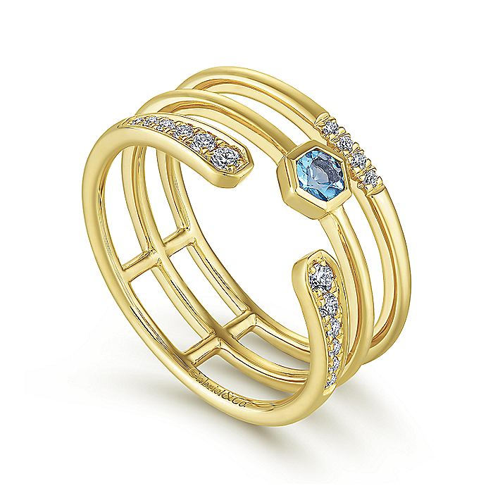 14K Yellow Gold Fashion Ladies Ring