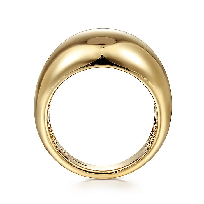 14K Yellow Gold High Polished Dome Ring