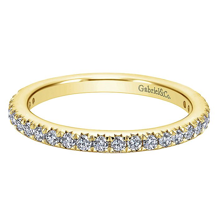 14K Yellow Gold Micro Pavé Set Diamond Eternity Band