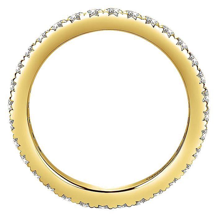 14K Yellow Gold Micro Pavé Set Diamond Eternity Band