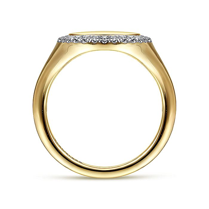 14K Yellow Gold Pinky Signet Ring