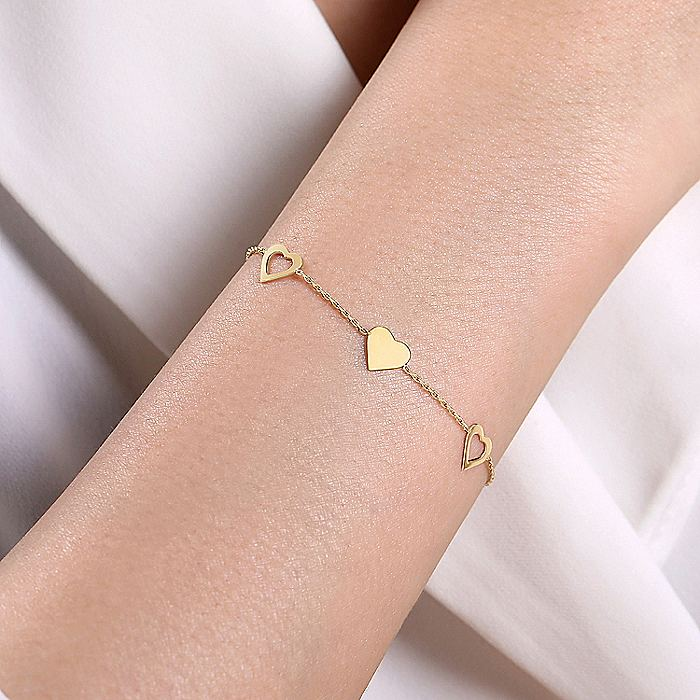 14K Yellow Gold Plain Bracelet