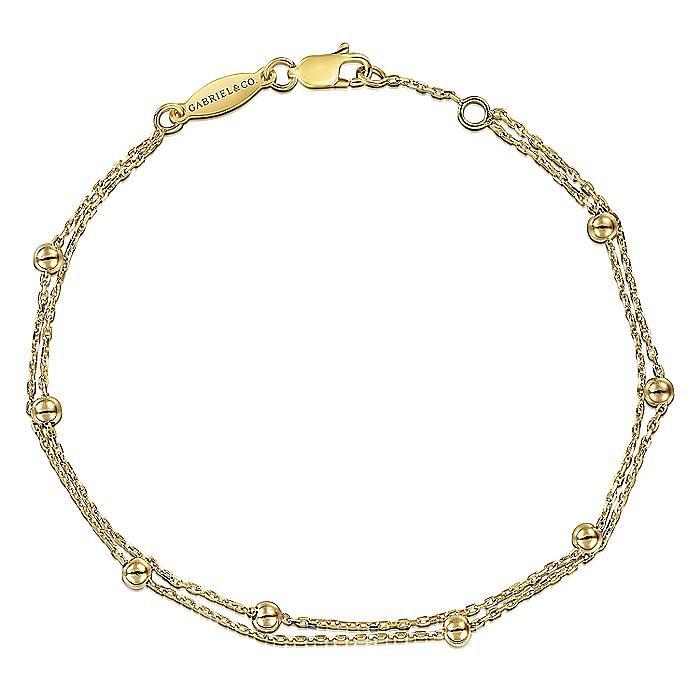 14K Yellow Gold Plain Bracelet