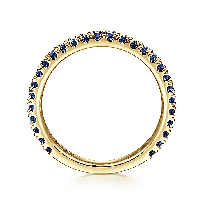 14K Yellow Gold Sapphire Stackable Ring