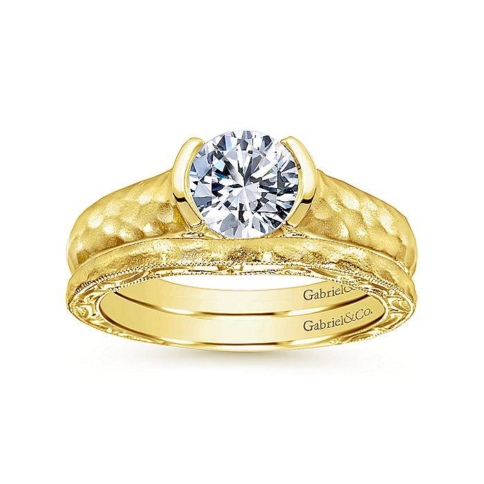 14K Yellow Gold Wedding Band
