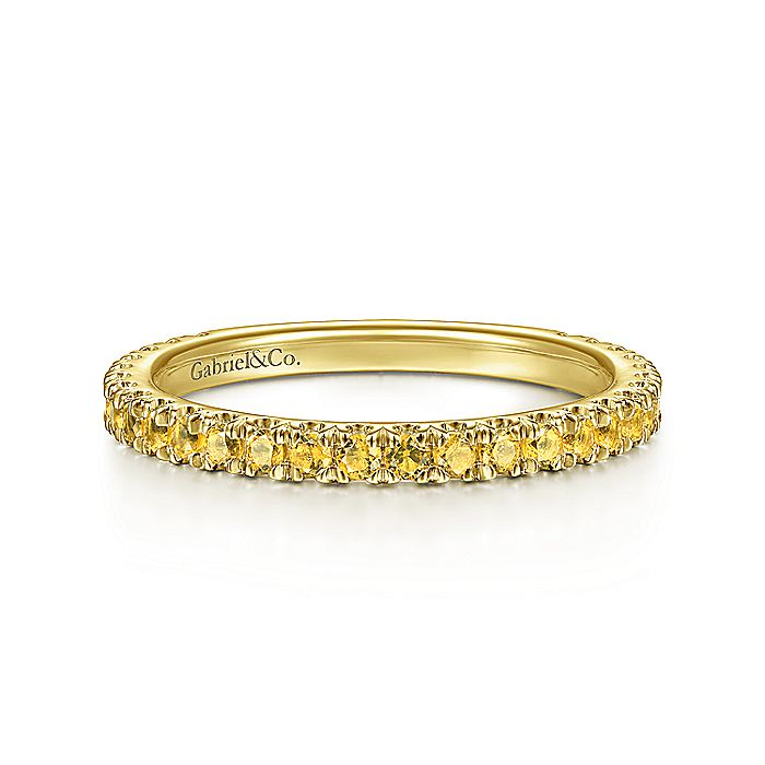 14K Yellow Gold Yellow Sapphire Stackable Ring