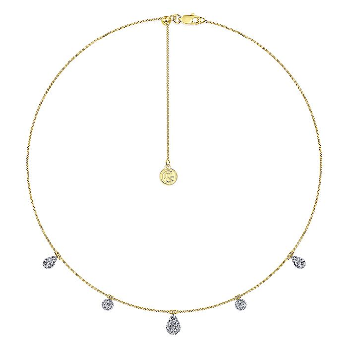 14K Yellow-White Gold  Necklace