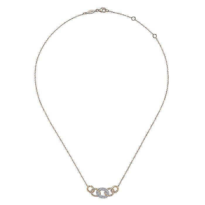 14k White And Rose Gold Hampton Fashion Necklace