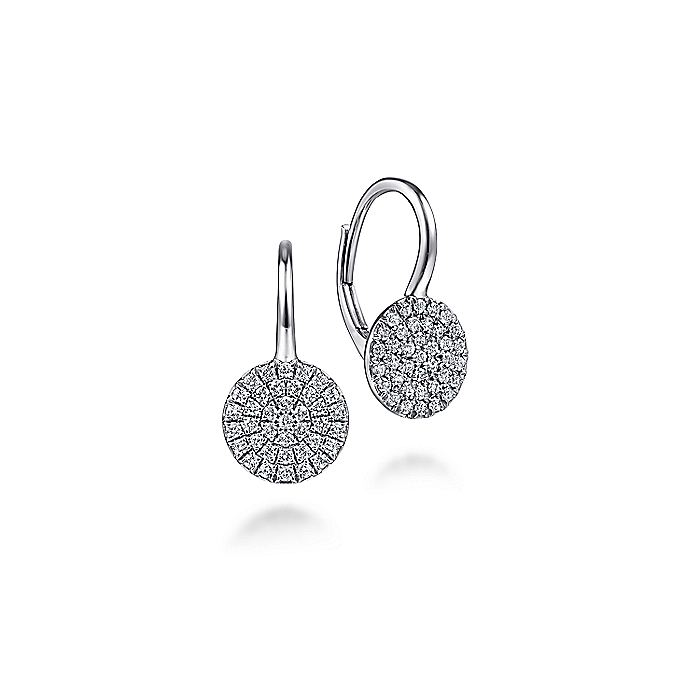 14k White Gold Lusso Drop Earrings