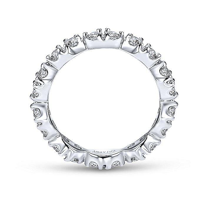 14k White Gold Marquis Shape Diamond Eternity Band