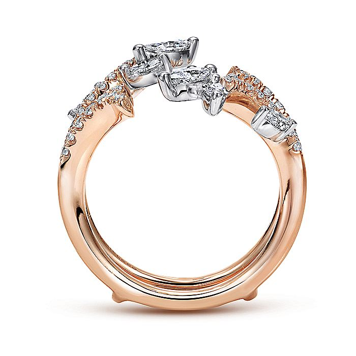 14k White and Rose Gold Enhancer