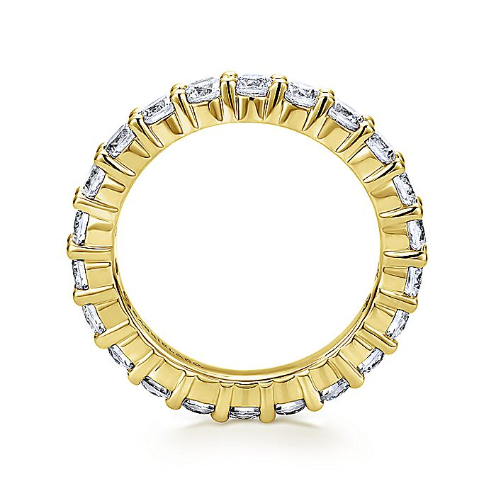 14k Yellow Gold Shared Prong Set Eternity Band