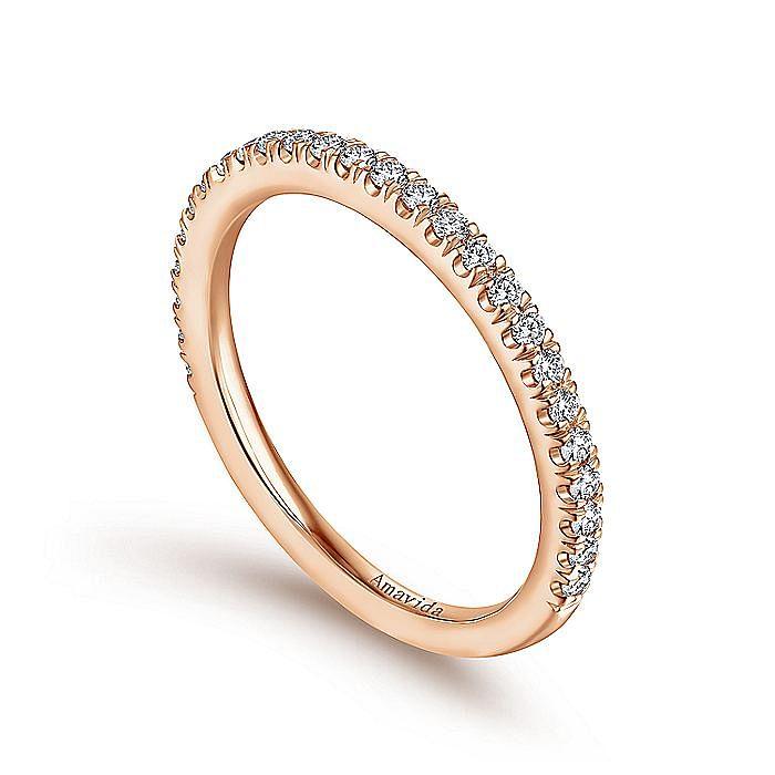 18K Pink Gold Matching Wedding Band