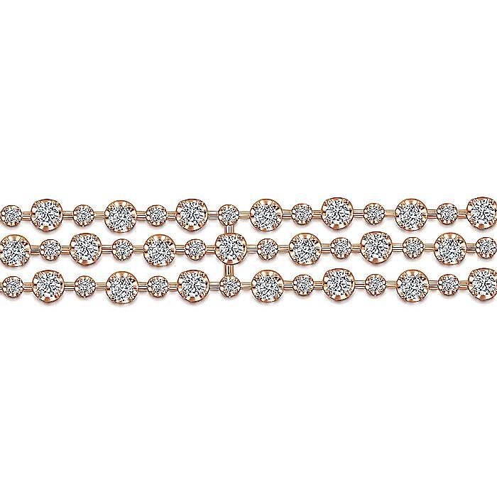 18K Rose Gold Diamond Tennis Bracelet