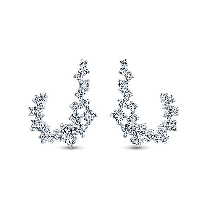 18K White Gold Diamond Constellation Stud Earrings