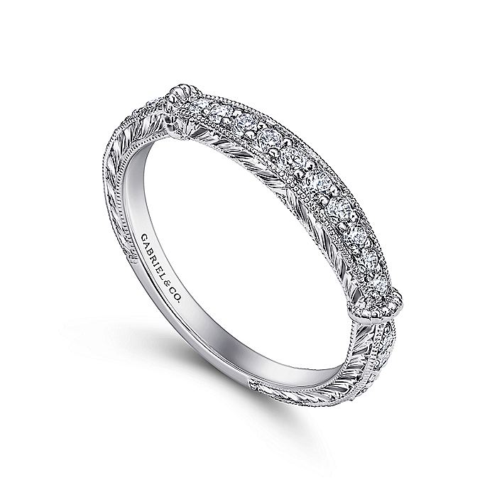 18K White Gold Diamond Matching Wedding Band