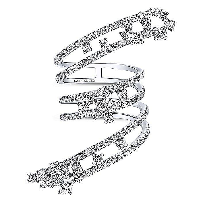 18K White Gold Diamond Wrap Ring