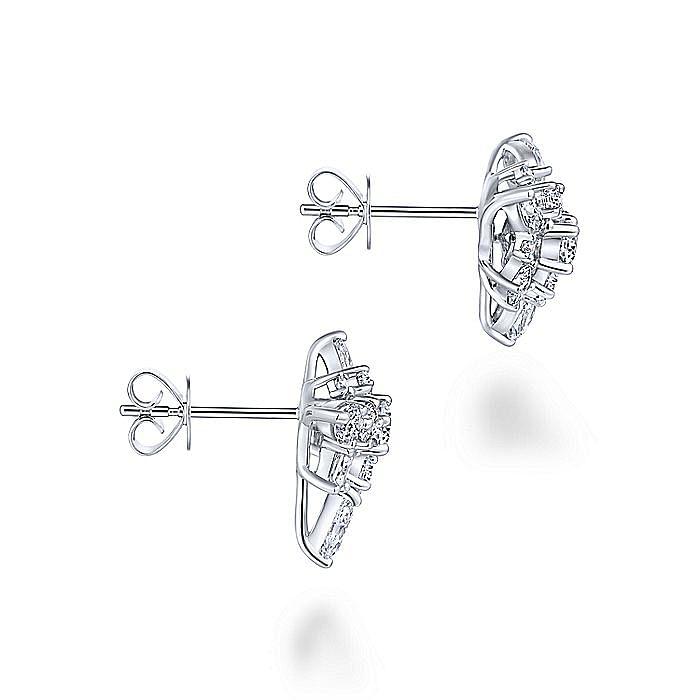 18K White Gold Fashion Earrings