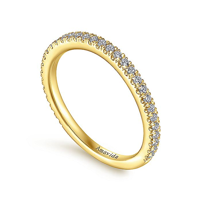 18K Yellow Gold Matching Wedding Band