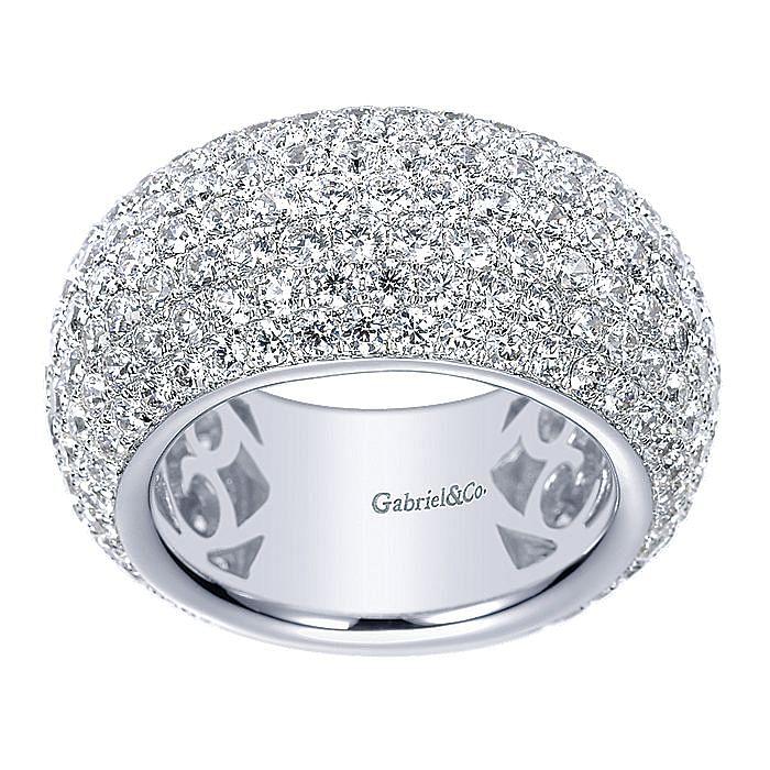 18k White Gold Fancy Micro Pavé Set Ring