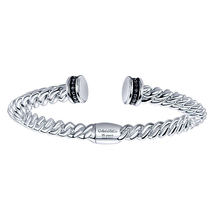 925 Silver & Stainless Steel JJ Bangle