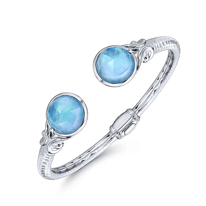 925 Silver & Stainless Steel Multi Color Bangle