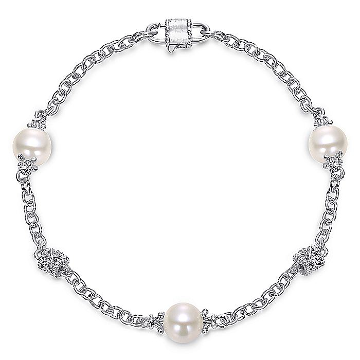 925 Silver Cultured Pearl Bracelet